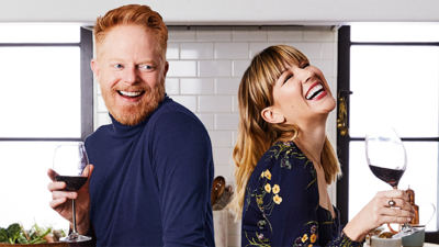 Jesse Tyler Ferguson and Julie Tanous